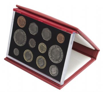 2005 Proof set red Leather deluxe